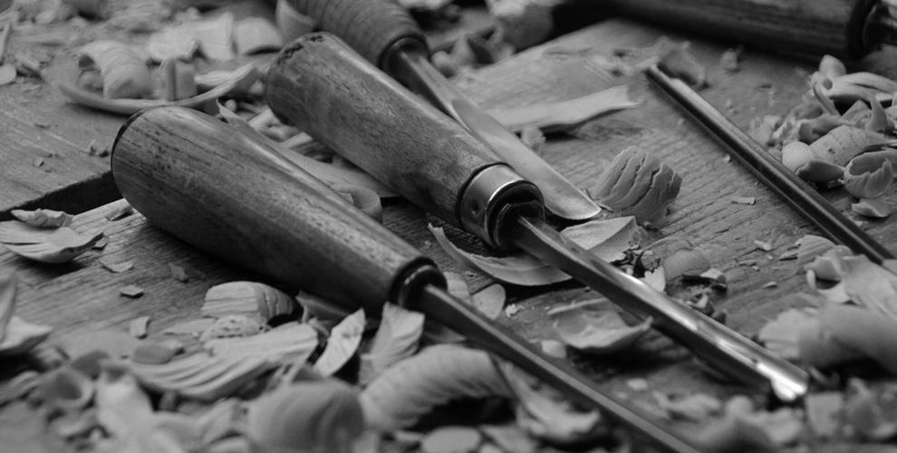 Gouges, outils du sculpteur sur bois