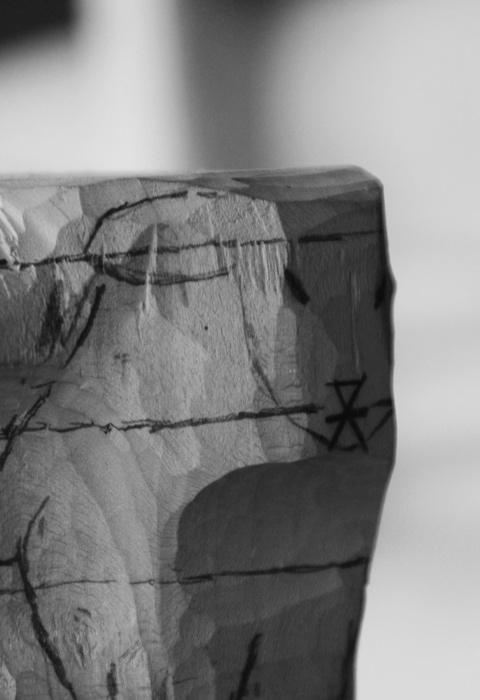 Sculpture en bois, mouton