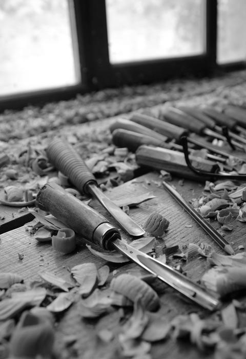 Les gouges, outils du sculpteur sur bois